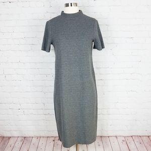 Zara Trafaluc Turtleneck Sweater Dress | Gray